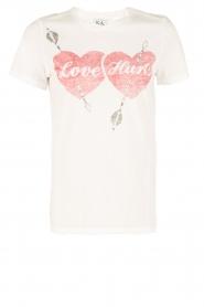 Zoe Karssen | T-shirt Love Hurts | wit  | Afbeelding 1