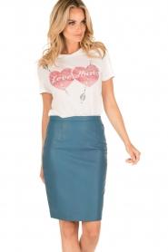 Zoe Karssen | T-shirt Love Hurts | wit  | Afbeelding 2