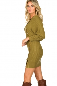Patrizia Pepe    Knitted dress with button details Ivy   green    Picture 6