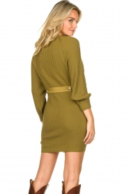 Patrizia Pepe |  Knitted dress with button details Ivy | green  | Picture 7