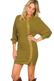 Patrizia Pepe    Knitted dress with button details Ivy   green    Picture 4