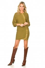 Patrizia Pepe    Knitted dress with button details Ivy   green    Picture 3