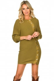 Patrizia Pepe    Knitted dress with button details Ivy   green    Picture 5