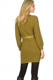Patrizia Pepe |  Knitted dress with button details Ivy | green  | Picture 6