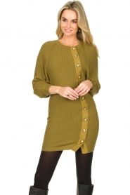 Patrizia Pepe |  Knitted dress with button details Ivy | green  | Picture 4