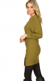 Patrizia Pepe |  Knitted dress with button details Ivy | green  | Picture 5
