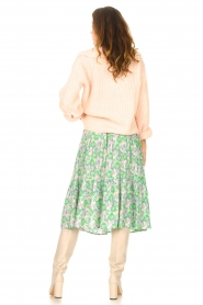 Lolly's Laundry |  Midi skirt with floral print Morning | green  | Picture 6