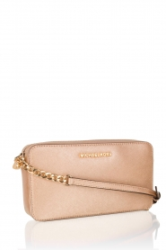 Leather mini bag Jet Set Travel | gold