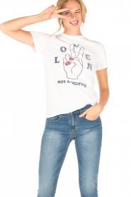 Zoe Karssen | T-shirt Lover | wit  | Afbeelding 2