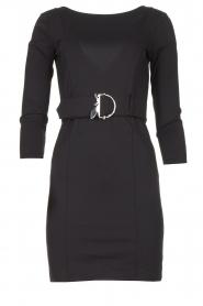 Patrizia Pepe |  Belted dress Colette | black  | Picture 1