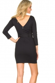 Patrizia Pepe :  Belted dress Colette | black - img7