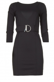 Patrizia Pepe |  Belted dress Colette | black  | Picture 1
