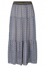 Lolly's Laundry |  Maxi skirt with print Bonny | blue  | Picture 1