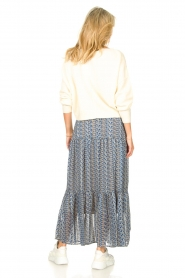Lolly's Laundry |  Maxi skirt with print Bonny | blue  | Picture 6