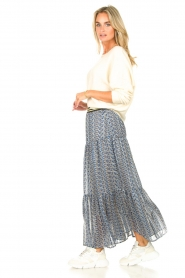Lolly's Laundry |  Maxi skirt with print Bonny | blue  | Picture 5