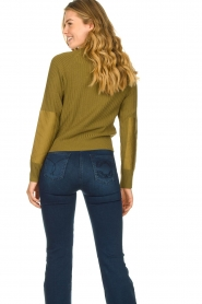 Patrizia Pepe |  Sweater with button details Misa | green  | Picture 7