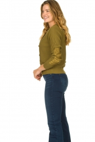 Patrizia Pepe |  Sweater with button details Misa | green  | Picture 5