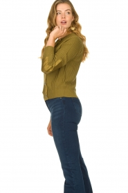 Patrizia Pepe |  Sweater with button details Misa | green  | Picture 6