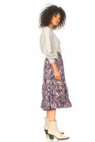 Lolly's Laundry |  Midi skirt with print Sana | blue  | Picture 4