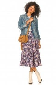Lolly's Laundry |  Midi skirt with print Sana | blue  | Picture 3