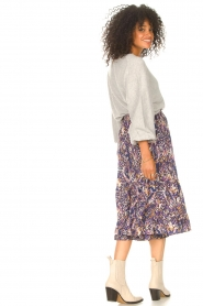 Lolly's Laundry |  Midi skirt with print Sana | blue  | Picture 5