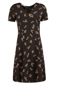 Sessun |  Short dress Miss Flowers | black  | Picture 1