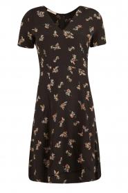 Sessun | Korte jurk Miss Flowers | zwart  | Afbeelding 1