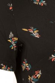 Sessun | Korte jurk Miss Flowers | zwart  | Afbeelding 6