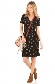 Sessun |  Short dress Miss Flowers | black  | Picture 3
