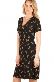 Sessun |  Short dress Miss Flowers | black  | Picture 4