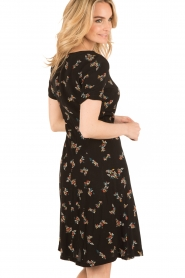 Sessun |  Short dress Miss Flowers | black  | Picture 5