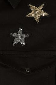 Zoe Karssen | Spijkerblouse sterren | zwart  | Afbeelding 6