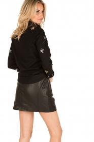 Zoe Karssen | Spijkerblouse sterren | zwart  | Afbeelding 5
