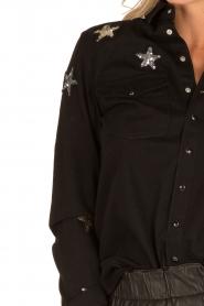Zoe Karssen | Spijkerblouse sterren | zwart  | Afbeelding 7