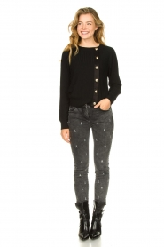 Patrizia Pepe |  Sweater with button details Misa | green  | Picture 3