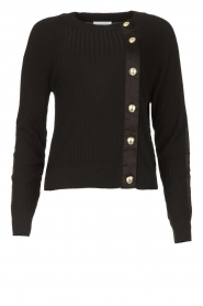 Patrizia Pepe |  Sweater with button details Misa | green  | Picture 1