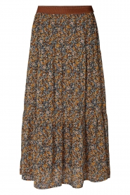 Lolly's Laundry |  Maxi skirt with floral print Bonny | brown  | Picture 1
