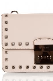 MICHAEL Michael Kors | Leren studded schoudertas Sloan Stud | grijs   | Afbeelding 5