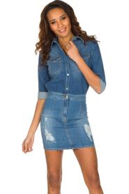 ELISABETTA FRANCHI | Spijkerjurk Rossella | blauw  | Afbeelding 2