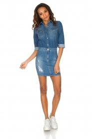 ELISABETTA FRANCHI | Spijkerjurk Rossella | blauw  | Afbeelding 3