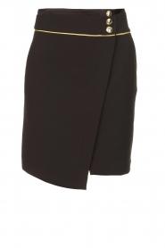 Patrizia Pepe |  Wrap skirt Lovi | black  | Picture 1