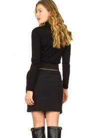 Patrizia Pepe |  Wrap skirt Lovi | black  | Picture 5
