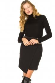Patrizia Pepe |  Wrap skirt Lovi | black  | Picture 2