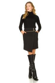 Patrizia Pepe |  Wrap skirt Lovi | black  | Picture 3