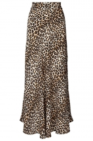 Lolly's Laundry |  Maxi skirt with animal print Mio | brown  | Picture 1