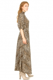 Lolly's Laundry |  Maxi skirt with animal print Mio | brown  | Picture 5