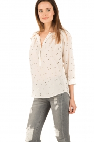 Sessun |  Semi-sheer blouse Airlines | white  | Picture 3