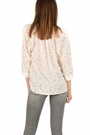 Sessun | Semi-sheer blouse Airlines | wit  | Afbeelding 4
