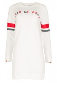 Zoe Karssen | Lange sweater Hear Me Roar | wit  | Afbeelding 1