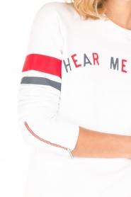 Zoe Karssen | Lange sweater Hear Me Roar | wit  | Afbeelding 6